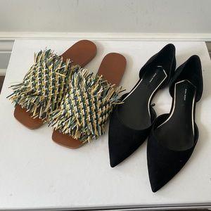 New 2 Pairs Zara Flat Sandal